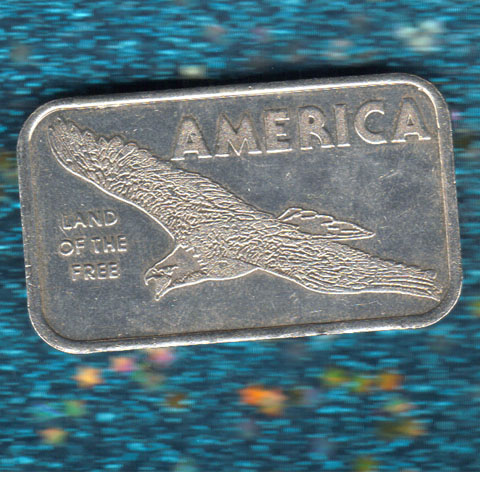 America Land of the Free silver bar