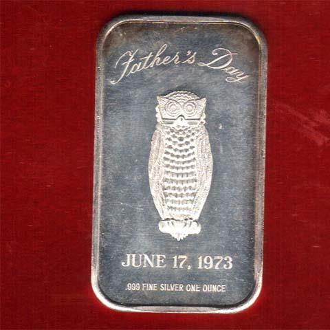 Fathers Day Silver Bar