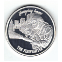 firefighter silver round coin