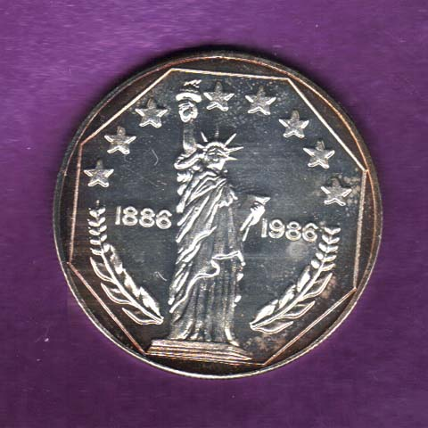 Statue of Liberty Silver Coin