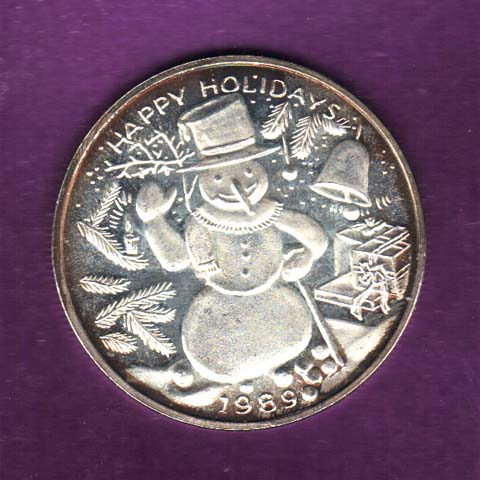 Tarnished Holiday Silver Round