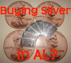 buying silver in Alabama