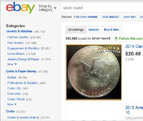 buying silver on eBay