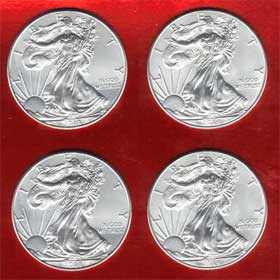 physical silver eagles